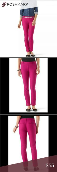 Pink pants White house black market pink pants. Size 2R worn once in good condition. Great for work White House Black Market Pants Ankle & Cropped