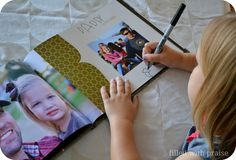 Father's Day photo book - prompts left open for kids to write their own appreciation for their Dad in their own handwriting.