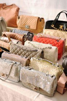 Chanel purses. I want them all.