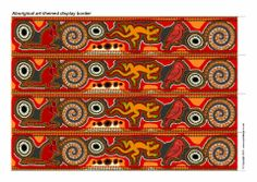 Print your own aboriginal art-themed display border. Cut out the strips and assemble around your display board. Aboriginal Education, Indigenous Education, Aboriginal Culture, Indigenous Art, Aboriginal Art, School Displays, Library Displays, Classroom Displays, Art Classroom