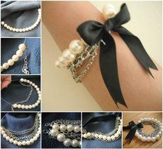 DIY Chained Pearl Bracelet | DIY Tag