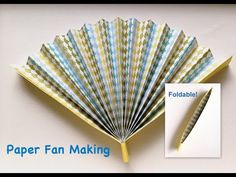 How to make paper folding fan that can open and close. I used some scrapbook papers here. First, I thought a flat magnet sheet is useful to keep the fan clos...