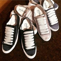 Pedro García Parson satin sneakers via @Dbsboutique