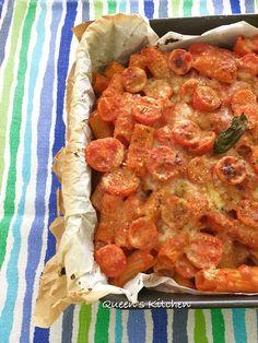 pasta al forno con pomodori gratinati