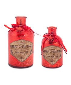 Merry Christmas Glass Bottle Set | zulily