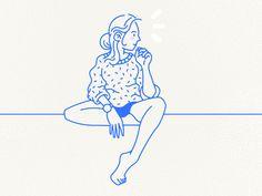 Sitting Pose by Ryan Putnam
