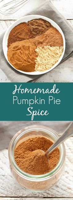 Homemade Pumpkin Pie Spice (plus different ways to use it!) Learn how to make your own pumpkin pie spice in less than 5 minutes with just a few common spices. Perfect for fall cookies, breads, pies, and so much more! Pumpkin Pie Recipes, Fall Recipes, Holiday Recipes, Recipe For Pumpkin Pie Spice, What Is Pumpkin Spice, Pumpkin Pie Muffins, Pumpkin Spice Cake, Diy Pumpkin, Rib Recipes