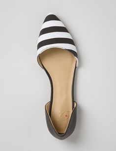 Two-Tone Striped Flats: Cute!