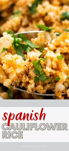 Spanish Cauliflower Rice is a fast and easy low carb veggie side that people go crazy for! You will be surprised at how well it tips its hat to classic Mexican Rice, but without the carbs. This keto-friendly recipe can be made with fresh or frozen cauliflower rice. #wendypolisi #sidedish #mexicanrecipes #Lowcarb #keto #glutenfree Spanish Cauliflower Rice, Frozen Cauliflower Rice, Spanish Rice, Rice Recipes, Mexican Food Recipes, Ethnic Recipes, Healthy Gluten Free Recipes, Keto Recipes, Veggie Side