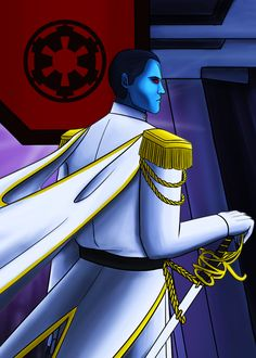 """cystemic: """" It's May the In Australia, anyway. I just wanted to kick off this giveaway with a spangly Thrawn I promised to draw for and a few other people but then my life. Star Wars Pictures, Star Wars Images, Thrawn Trilogy, Darth Bane, Imperial Officer, Grand Admiral Thrawn, Evil Empire, Blue Space, Star Wars Rebels"""