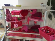 Aluminum rat Valentine's cage! (Critter nation look-a-like)