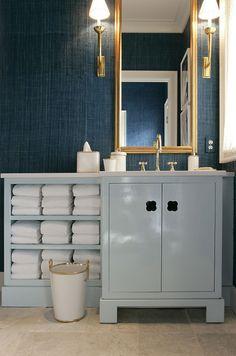 Designer Jamie Drake featured Madagascar Raffia 3489 Key West Teal in 2006 Cottages & Gardens Idea House - Hamptons.