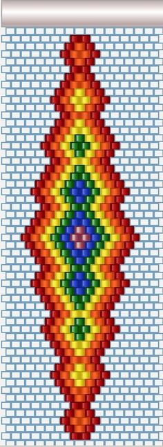 need to use diff colors Native Beading Patterns, Native Beadwork, Seed Bead Patterns, Beaded Bracelet Patterns, Peyote Patterns, Jewelry Patterns, Stitch Patterns, Beading Projects, Beading Tutorials