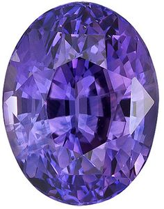Genuine Purple Sapphire Loose Gemstone, Purple Violet Color, Oval Cut, 9.4 x 7.2 mm, 3.27 Carats at BitCoin Gems
