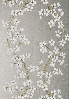 Albans Grove - White and Silver wallpaper, from the Serenade collection by Anna French