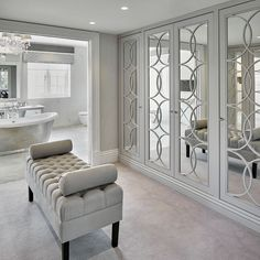 Create a luxurious dressing room with The Heritage Wardrobe Company. Create a luxurious dressing roo Dressing Room Mirror, Dressing Room Decor, Dressing Room Closet, Dressing Room Design, Dressing Rooms, Dressing Area, Luxury Wardrobe, Mirrored Wardrobe, Luxury Closet