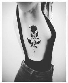 Dark rose tattoo.. omg so pretty