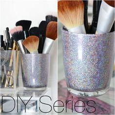 Diy Glitter Brush Organizer Diy Makeup Storage Makeup