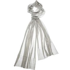 Ashira Wrap in Light Grey ($425) ❤ liked on Polyvore