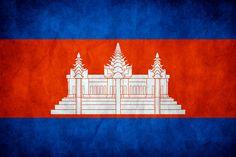 Cambodia Grunge Flag by think0.deviantart.com on @DeviantArt