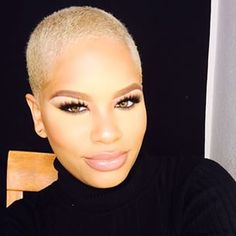 Prove that blondes with big chops have more fun. | 22 Flawless Women Who Made The Big Chop
