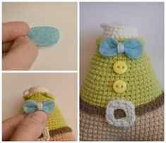 Step by Step Amigurumi Tutorial Baby Knitting Patterns, Crochet Flower Patterns, Crochet Patterns Amigurumi, Knitting Designs, Crochet Dolls, Crochet Baby, Free Crochet, Tutorial Amigurumi, Crochet Doll Tutorial