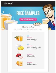 4 free samples of Airborne via Facebook (Hurry)