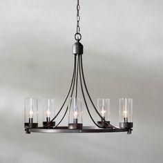 Industrial Indoor/Outdoor Round Chandelier | Outdoor chandelier ...