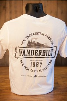 Cornelius Vanderbilt | Industrialist Series | Pocket T-Shirt - New York Central Railroad | Men Who Built America | By Buffalo Jackson Trading Co