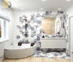 Дизайн дома с мансардой внутри. Фото ванной