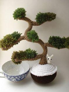 Winter Informal  Amigurumi Juniper Bonsai Tree by MoonsCreations, $90.00
