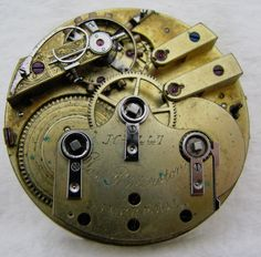 ANTIQUE SWISS JOSEPH PENLINSTON LIVERPOOL FUSEE POCKET WATCH MOVEMENT PARTS | eBay