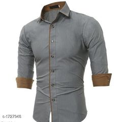 Checkout this latest Shirts Product Name: *Cotton Casual Men's Shirt* Fabric: Cotton Sleeve Length: Long Sleeves Pattern: Solid Multipack: 1 Sizes: S, M, L, XL Country of Origin: India Easy Returns Available In Case Of Any Issue   Catalog Rating: ★4 (550)  Catalog Name: Stylish Cotton Casual Men's Shirts Vol 3 CatalogID_226159 C70-SC1206 Code: 025-1727948-7431