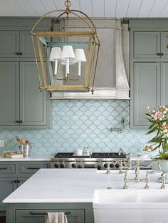 Totally On Trend: Fabulous Fish Scale Tiles for the Bath & Kitchen   Apartment Therapy