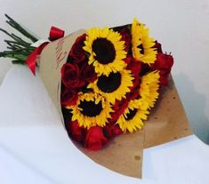 48 Trendy Flowers Roses And Sunflowers Red Roses And Sunflowers, My Flower, Beautiful Flowers, Sunflower Bouquets, Sunflower Wallpaper, Flower Aesthetic, Rose Bouquet, Floral Arrangements, Wedding Flowers