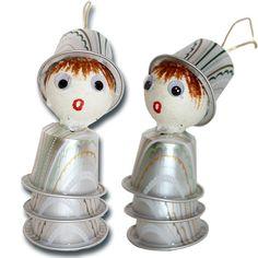 Personnage Noël en capsules de café - Tête à modeler