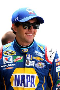 Chase Elliott Photos - Chase Elliott, driver of the #24 NAPA Auto Parts Chevrolet, stands in the garage area during practice for the NASCAR Sprint Cup Series Quaker State 400 at Kentucky Speedway on July 7, 2016 in Sparta, Kentucky. - Kentucky Speedway - Day 2
