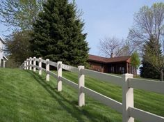 Clean   White Vinyl Fence Parts and white vinyl fencing split rail