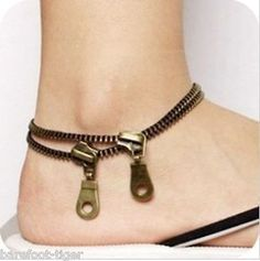 Zip #zipper ankle bracelet #anklet. gift #boxed.,  View more on the LINK: 	http://www.zeppy.io/product/gb/2/131488950618/