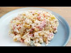 SAŁATKA RYŻOWA Z ANANASEM! BĘDZIESZ W SZOKU JAKA JEST PYSZNA! - YouTube Coleslaw, Pasta Salad, Risotto, Ethnic Recipes, Youtube, Food, Pineapple, Crab Pasta Salad, Essen