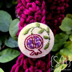 free pomegranate embroidery pattern