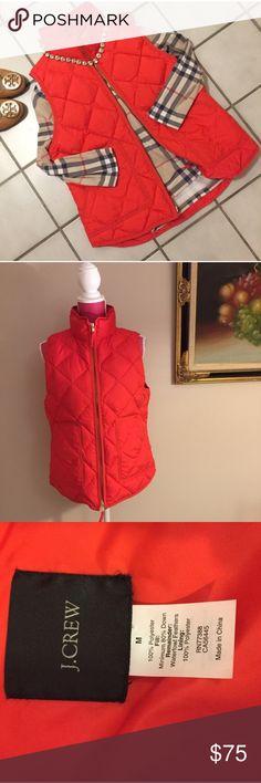 J. Crew excursion vest Gorgeous cherry red! Blogger favorite! Not factory! Gorgeous layering  fall staple! J. Crew Jackets & Coats Vests