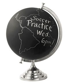 This unique chalkboard globe is such a fun gift for the world traveler in your life! #TheGifter