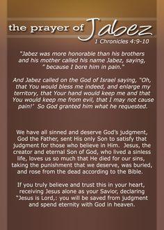 The Prayer of Jabez, 1 Chronicles 4:9-10