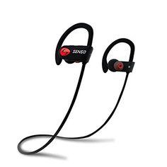 09d22a032bf SENSO Bluetooth Headphones, Best Wireless Sports Earphones w/ Mic IPX7  Waterproof HD Stereo Sweatproof