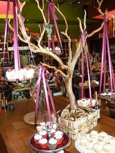 Manzanita Tree with cupcakes
