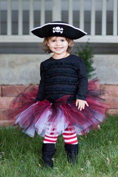 pirate tutu, vampire tutu, red & black tutu
