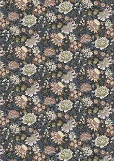 Alba Fabric – Vallila Online Store Dark Forest, Boarders, Summer Sale, Floral, Green, Adobe, Fabric, Color, Tejido