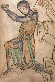 A 13th Century Knight- Matthew Paris about 1250. One of my favourite classic images of a knight :)