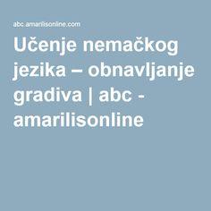 Učenje nemačkog jezika – obnavljanje gradiva | abc - amarilisonline